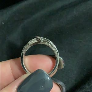 Kay Jewelers Jewelry - Silver and Yellow Heart Ring